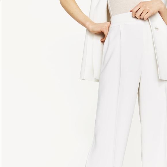 6a44dce0817 Zara Pants | Nwt White High Waisted Flowing Palazzo | Poshmark